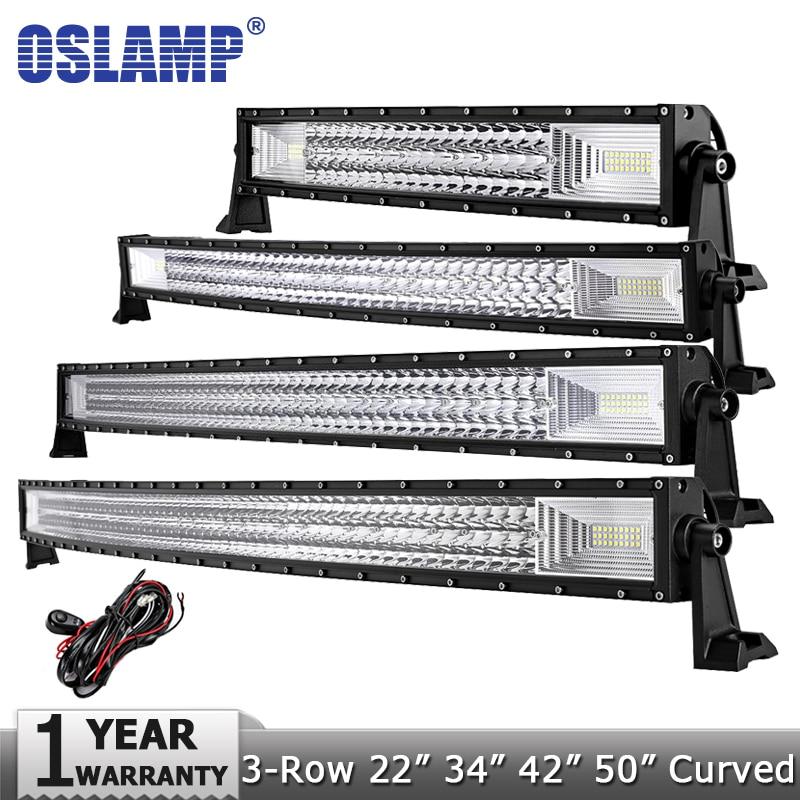 Oslamp 3 Row 22 324W 34 486W 42 594W 52 702W LED Light Bar Offroad Led