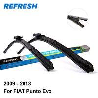 Car Wiper Blade For FIAT Punto Evo 26 15 Rubber Bracketless Windscreen Wiper Blades Wiper Blades