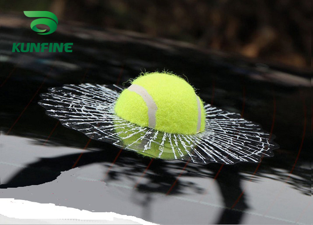 3D Tennis Ball Car Styling Stickers Hit Windows Funny Auto Windshield Decoration Self Adhesive Decal Accessories