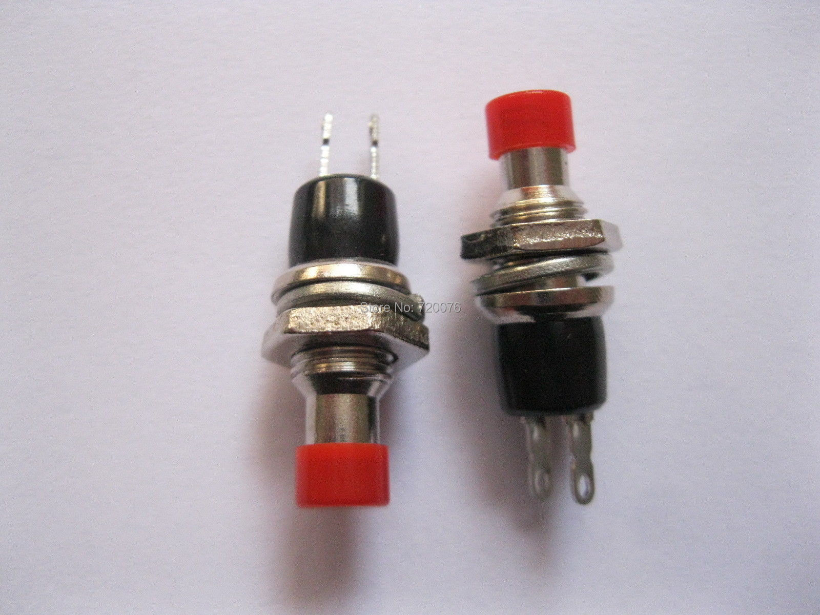 40 pcs SPST Mini Push Momentary Switch Red Cap 250V/3A 125V/6A Nomal Off  [vk] 1241 3257 switch push spst no 100ma 42v switch