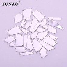 JUNAO, 20 шт., смешанные формы, Пришивные прозрачные зеркальные стразы, аппликация из кристаллов, Пришивные акриловые зеркальные стразы с плоской задней частью для платья