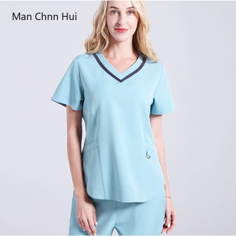 Surgical Gowns Medical Scrub Set Silky Stretch Uniform Dental Clinic Workwear Beauty Salon Nurse Clothing