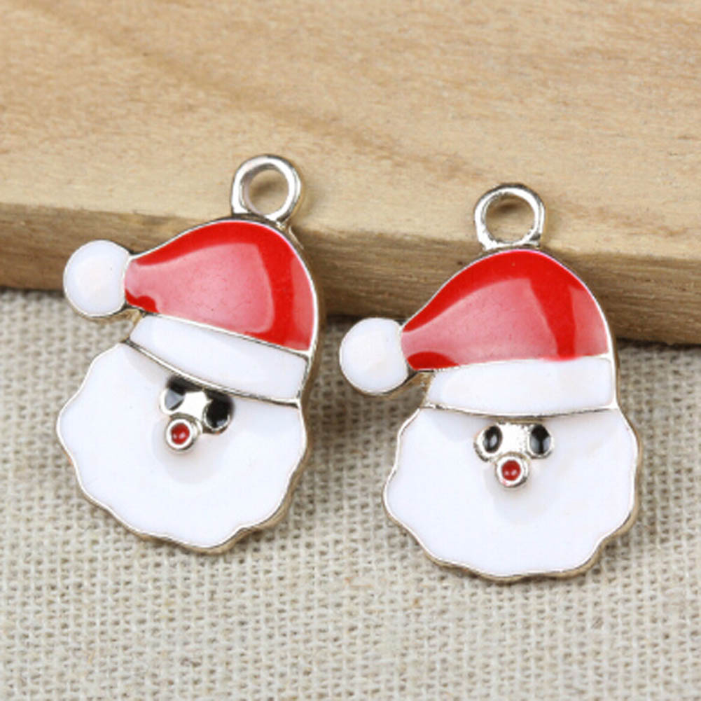 2017 new Colorful Santa Claus pendants Wholesale Enamel Alloy Christmas gifts Santa Clau ...