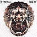 Diameter 20cm Handle Antique Chinese lion head