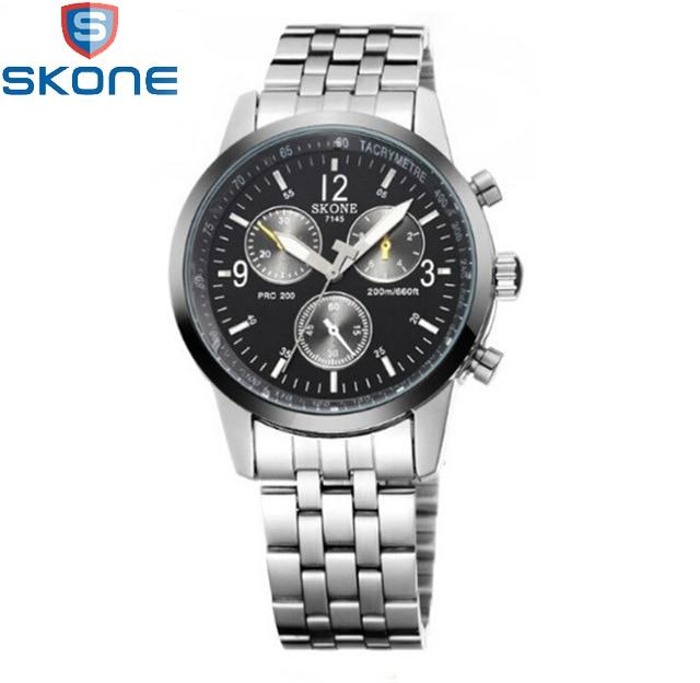 New Arrival Skone Men Watches Brand Luxury Men Military Wrist Watches Full Steel Men Sports Watch
