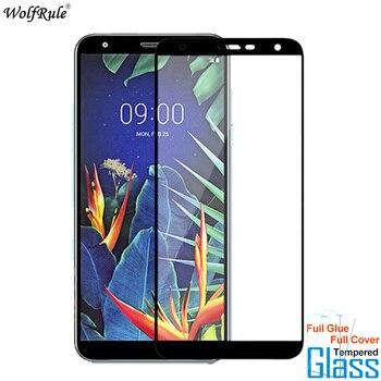 Перейти на Алиэкспресс и купить 2 шт для стекла LG K40 Защитная пленка для экрана с полным клеем закаленное стекло для LG K40 стекло для LG K12 Plus пленка для телефона X4 2019 5,7''