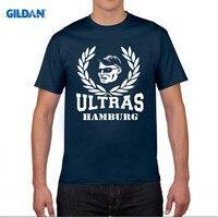 GILDAN Ultras Bundesliga Hamburg Koszulka Wentylator Fubball Fussball Chuliganów T-shirt 100% Bawełna Rodziny Geek T Shirt