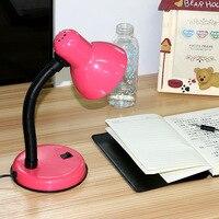 책상 램프 빛 스탠드 눈 보호 독서 빛 미니 모자 테이블 빛 에너