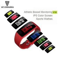 VESTMADRA V10 Smart Wristband Fitness Tracker Heart Rate Monitor Smart Band Acitivity Tracker Blood Pressure IPS