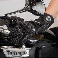 2017 Summer New Racer Knight ROCK BIKER Motorcycle Gloves Motorbike Ride glove of leather carbon fiber black red green white