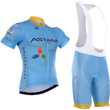 9D gel 2019 Team Astana Cycling JERSEY Bike Shorts set Quick Dry Ropa Ciclismo Mens Breathable Bicycle clothing pro Cycling wear