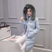 New Arrival 2016 Winter Women Down Jackets High Quality Fur Collar Hooded Overcoat Cotton Padded Thicken Warm Down Coat CT211