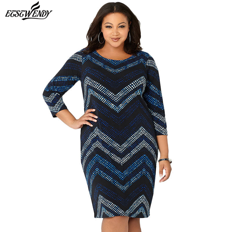 New L-6XL Large Size 2019 Spring Summer Dress Big Size Fashion ...