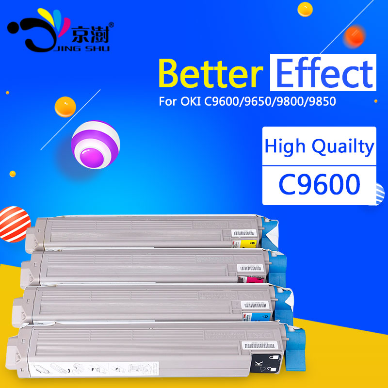 1pcs Jingshu Remanufactured Toner Cartridge replacement for OKI  C9600 C 9600 9650 9800 9850 printer