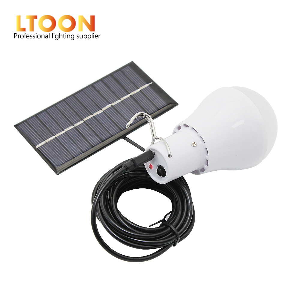 [LTOON]New Useful Energy Conservation S-1200 <font><b>15W</b></font> 130LM Portable <font><b>Led</b></font> <font><b>Bulb</b></font> Light Charged Solar Energy Lamp Home Outdoor Lighting image