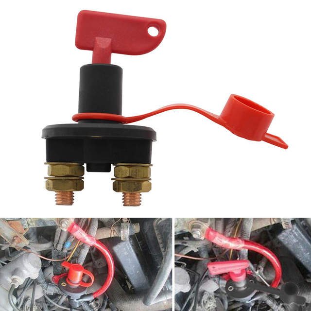 12V 300A Battery Main Switch Disconnector Compact Size Isolator  Disconnect Device Sturdy Durable Car Boat Switch Accessories