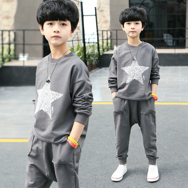 c4c366df3917a Aliexpress.com : Buy 2018 Children Clothing Boys Sports Clothing Set Kids  Autumn SpringTracksuit Baby Boys Casual Clothes Suit Boys Sweatshirt+Pants  ...