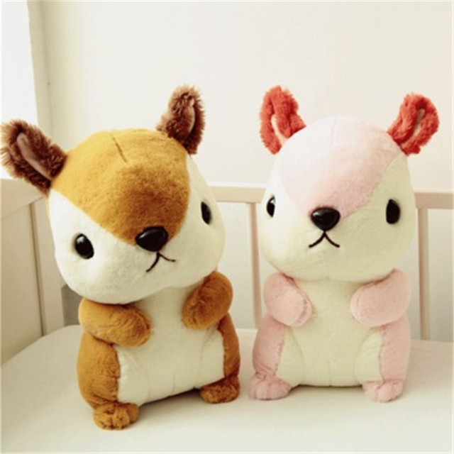 New Baby Kawaii Squirrel Plush Toys Animal With Long Tail Creative Stuffed Toys Kids Toys Children  Birthday Gifts
