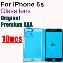 """10pcs Original Premium AAA OCA user quality Front Outer Screen Glass Lens Replacement for iPhone 6s 6Gs 4.7"""" White and black"""