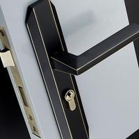 3 Colors/Brass Door Lock Modern Style Interior Door Handles Anti theft Room Safety Unequal Double Door Lock Accessories
