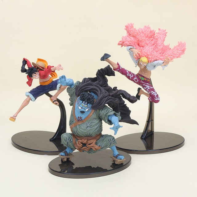 One piece Luffy Donquixote Doflamingo Fishman Jinbe PVC Action Figure Toy