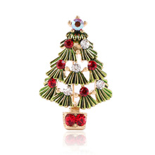 CINDY XIANG Colorful Paint Christmas tree Brooches For Women Creative Alloy Hollow Pins Jewelry Coat Dress Party Accessories