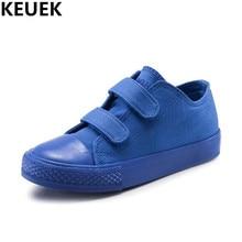 c7b770687 Novas Crianças Sapatos Casuais Meninos Sneakers Hook & Loop Flats Respirável  Alpercatas de Lona Das Meninas Da Criança Do Bebê S..