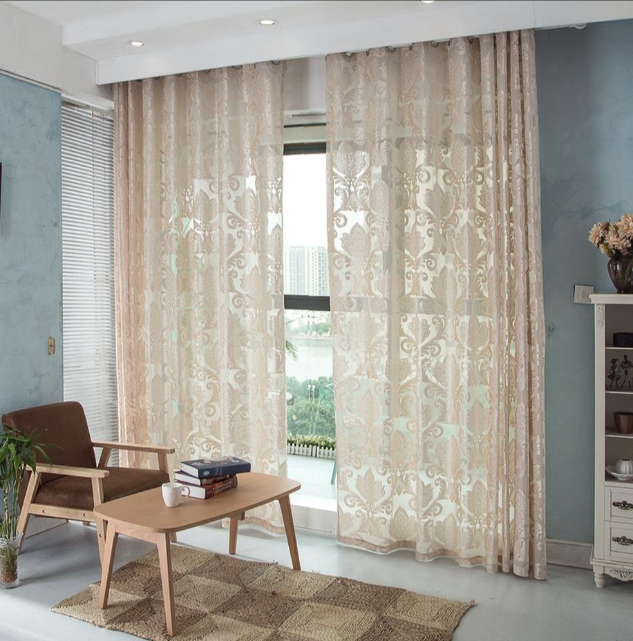 Cafe curtains for bedroom - Thickening Of Finished Bedroom Contracted White Gauze Curtain High Grade Ground Wire Netting White Gauze