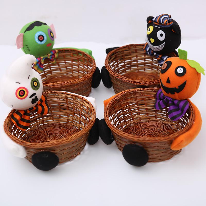 Halloween Candy Storage Basket Ghost Pumpkin Turtle Biscuit Fruit ...