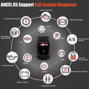 Image 2 - OBD OBD2 السيارات الماسح الضوئي Ancel X5 زائد واي فاي جهاز لوحي سيارة أداة تشخيص وسادة هوائية DPF EPB ABS إعادة تعيين النظام الكامل التشخيص
