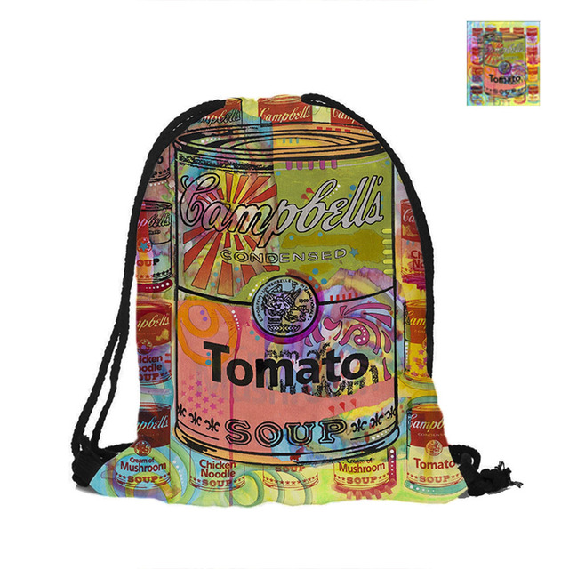 Tomato Drawstring Backpack For Beach School Ping Fashion Polyester Bags Pouch Backpacks Shoulder Bag