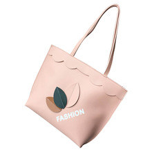 High Quality Ladies Casual Shoulder Bag Big Capacity Popular Fashion Autumn Winter Leaves Printing Handbag
