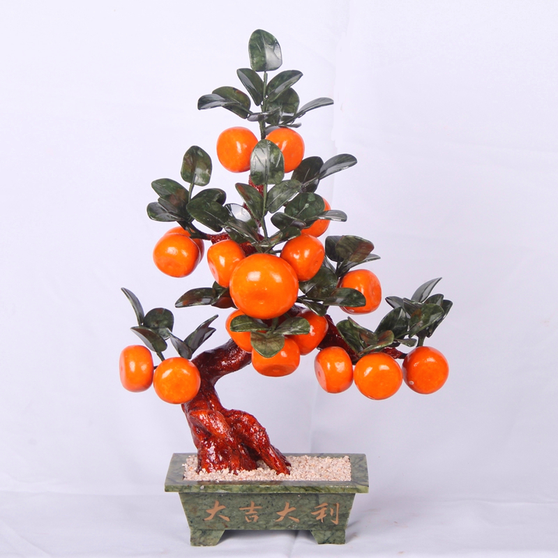 18 large orange trees living jade ornaments jade crafts Chinese Decor gift pot