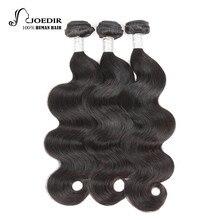 Joedir Hair 360 Lace Frontal Closure With Bundles Brazilian Body Wave cabello humano 3 Bundles Non Remy pelo con cierre frontal