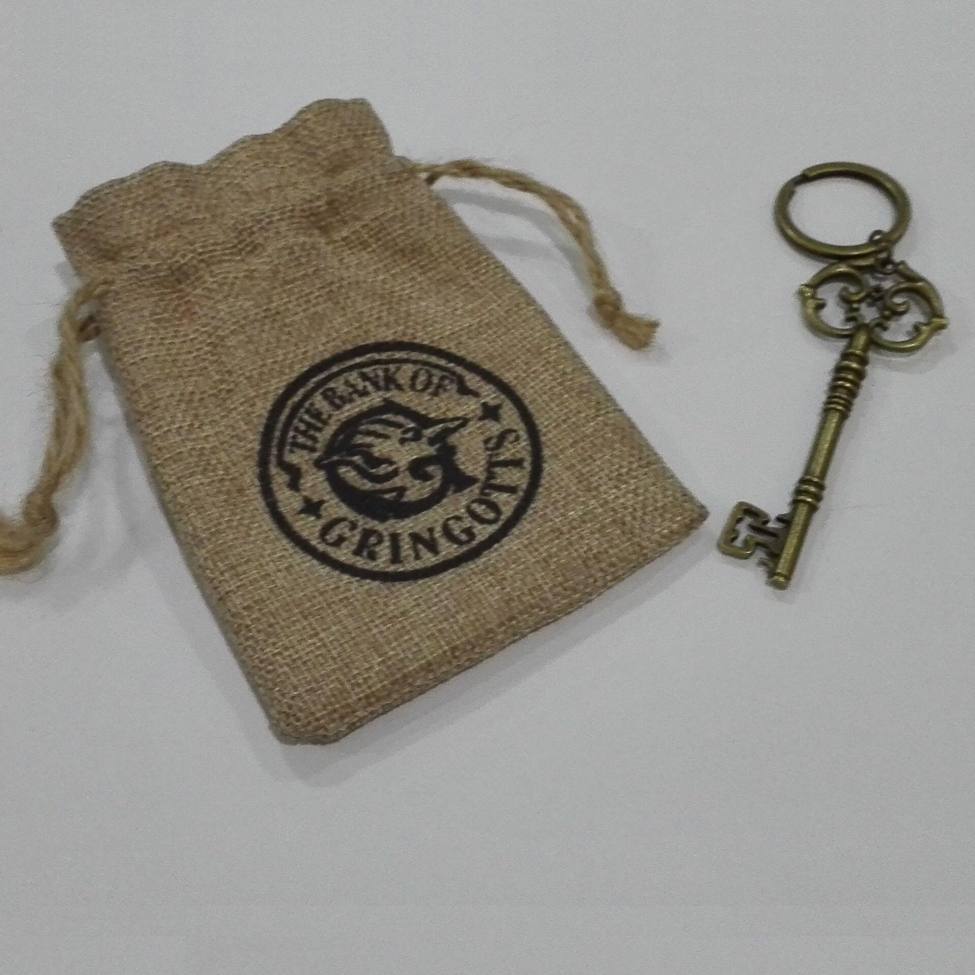 Gringotts Bank Wizarding Bank Key ahlloween Cosplay Accessory HP Collectible Children gift