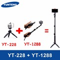 For GOPRO DSLR Camera IOS Android Smart Phone Yunteng 1288 Bluetooth Extendable Selfie Stick Monopod & Yunteng 228 Mini Tripod