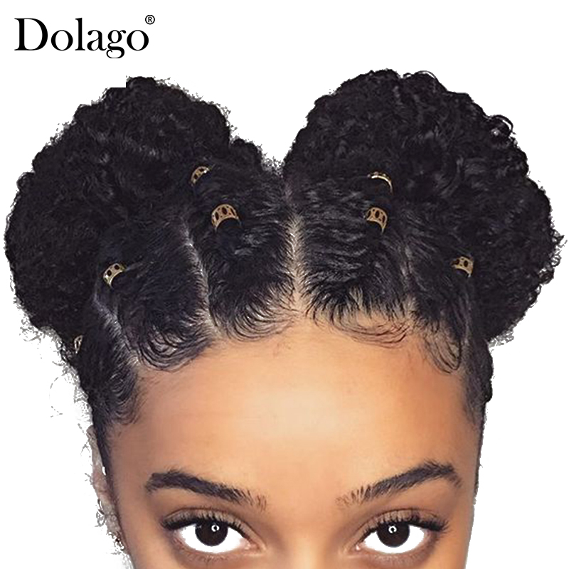 Afro Kinky Curly 360 Lace Frontal Closure Pre Plucked With Baby Hair Brazilian Remy Human Hair
