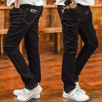 Kinder Jungen Denim Jeans Neues Design 2017 Spring Fashion Solid Elastische Taille Hose Beiläufige Baumwolle Lose Hosen Kinder Kleidung Heißer
