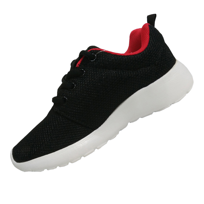 New Design Black Color Children Sports Shoes Boys And Shoes In Color Black