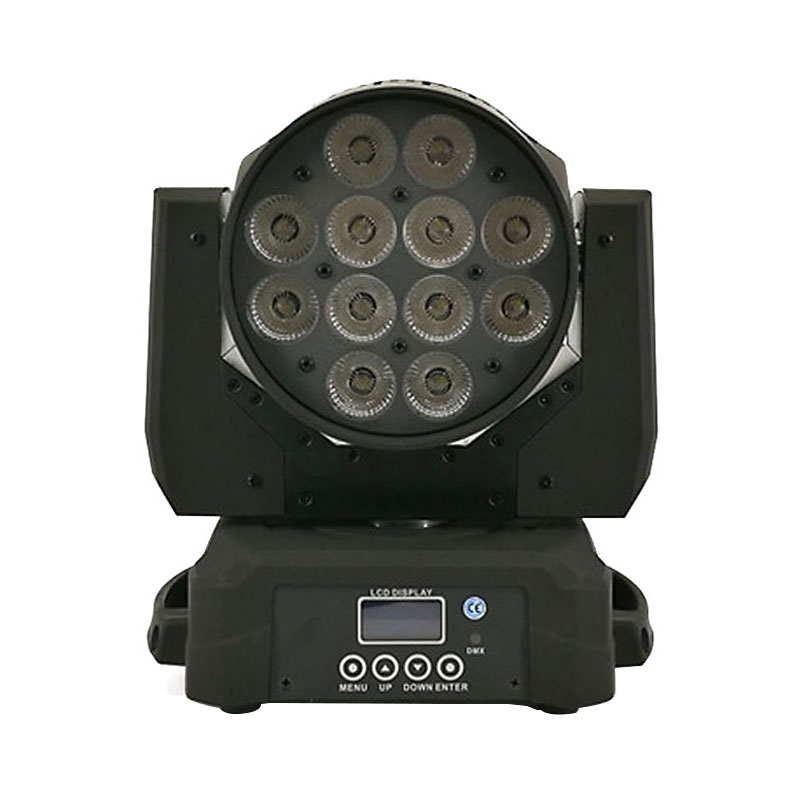 Led Wash Moving Head Lighting 12x12W RGBW 4 in 1 Disco Light DJ DMX Lamp Professional Stage Equipment For Indoor Club Party Show moving head spider lights cree led 8x10w rgbw moving head show light disco ktv dj club show bar led stage lighting