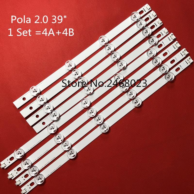 100%New! 8 PCS/set LED Backlight Strip For LG 39 Inch TV 39LN5300 39LN5400 HC390DUN-VCFP1-21XX Innotek POLA2.0 39