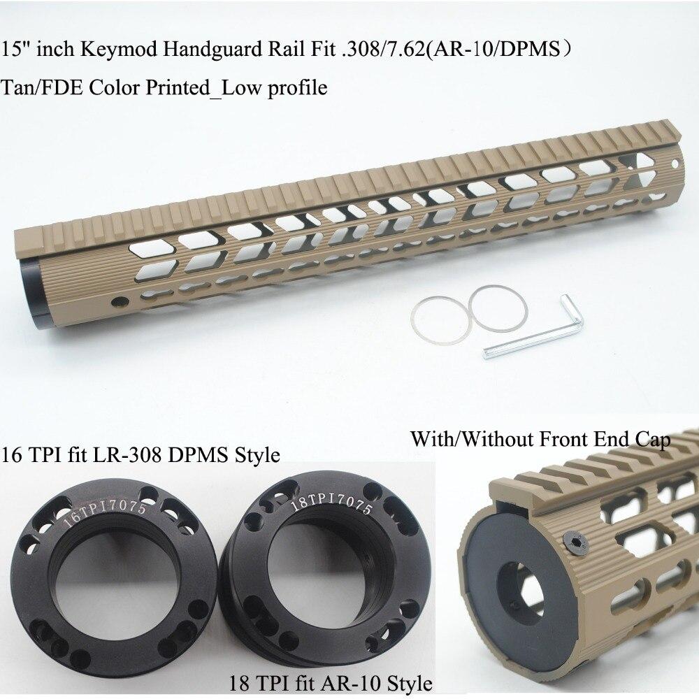 TirRock 15 inch 308 7 62 Keymod Handguard Rail Free Float Picatinny Mount System Ultralight Aluminum