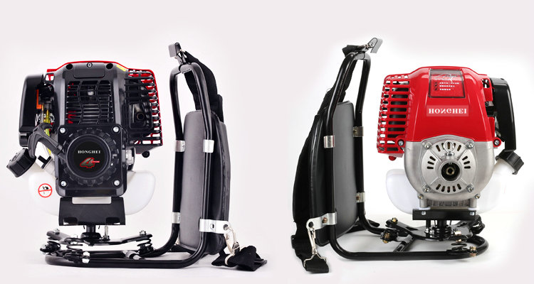 Backpack Small Single     Machine 5 Weeder Gasoline Stroke Cutter Four Pruning Lawn Horsepower Trimmer   Home Brush 2 Cylinder