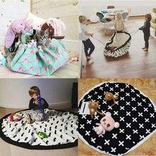 New Kids toy clothes storage bag,Flamingos football badminton anchor Cotton Canvas Game Mat,Convenient Portable kids storage bag
