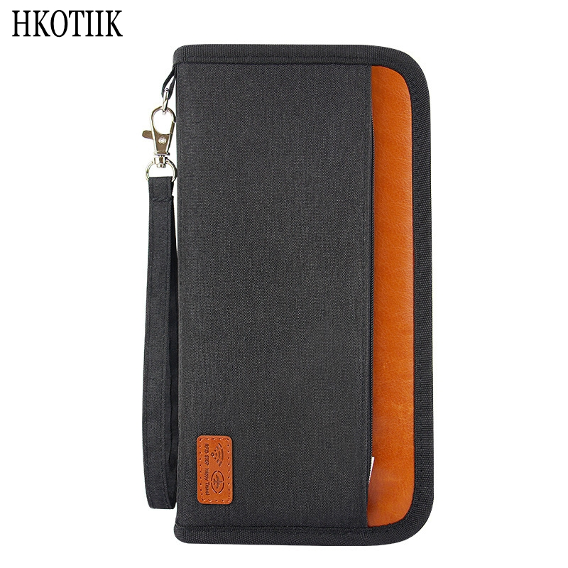 Quality Travel Anti-RFID Passport Package Credit Card Package ID Passport Clip File Multi-card Storage Bag Clutch Travel Wallet