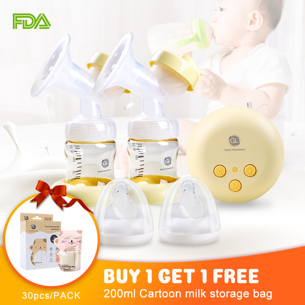 Double Electric Breast Pump Portable Milk Pump Breastfeeding With Massage Mode And Adjustable Suction For Mom's Comfort