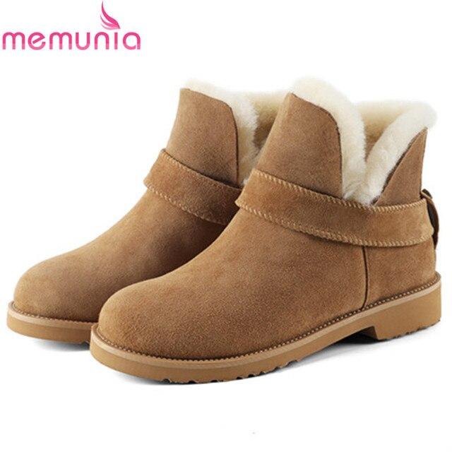 735da1a8 US $106.0 |MEMUNIA Duży rozmiar 34 41 śniegu buty kid suede fur botki dla  kobiet wełny utrzymać ciepłe buty damskie platformy stałe w MEMUNIA ...