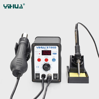YIHUA 8786D 2 In 1 SMD Rework Soldering Station Hot Air Gun Solder Iron For Welding