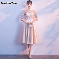2019 summer sexy chinese dress qipao woman long bride wedding red cheongsam lace robe oriental style dresses traditional evening