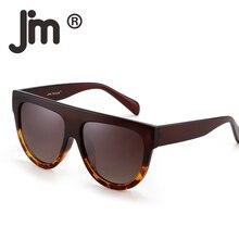 JM Flat Top Polarized Cat Eyes Sunglasses Oversized Thick Cateye Square Sun Glasses Fashion Eyewear